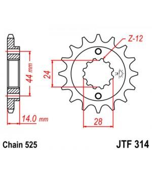 JTF314.15 Звезда передняя 525