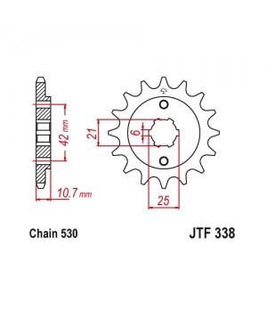 JTF338.17 Звезда передняя 530