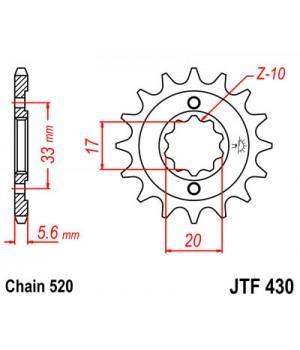 JTF430.15 Звезда передняя 520
