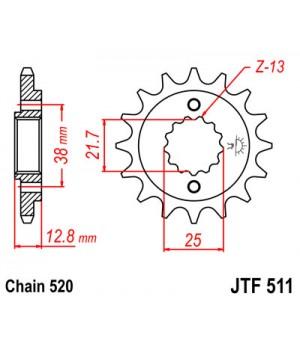 JTF511.16 Звезда передняя 520