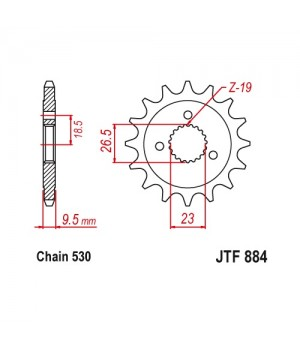 JTF884.21 Звезда передняя 530