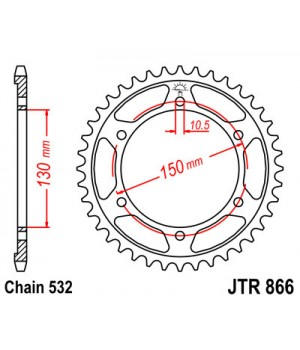 JTR866.39 Звезда задняя 532